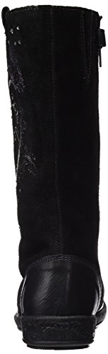 Garvalín 161625, Zapatillas Altas para Niñas Negro (Sauvage / Serraje)