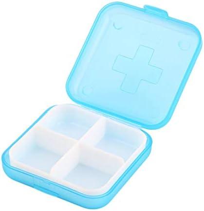 SEN Estuche de Medicina médica extraíble Estuche para Pastillas médico Caja portátil con 4 Ranuras Almacenamiento Azul: Amazon.es: Hogar