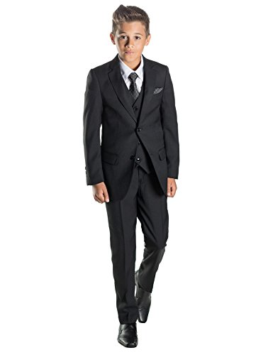 Paisley of London Boys Black Ring Bearer Suit, 16 ()