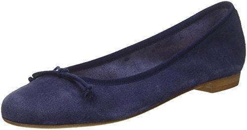 De Fred De La Bretoniere Vrouwen Leren Ballerina Ballerinas Gesloten Blauw (kobaltblauw)