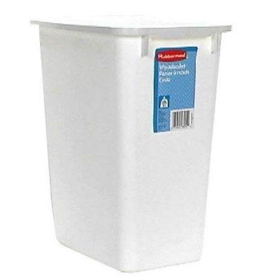 Rubbermaid FG280500WHT 21 Qt White Wastebasket