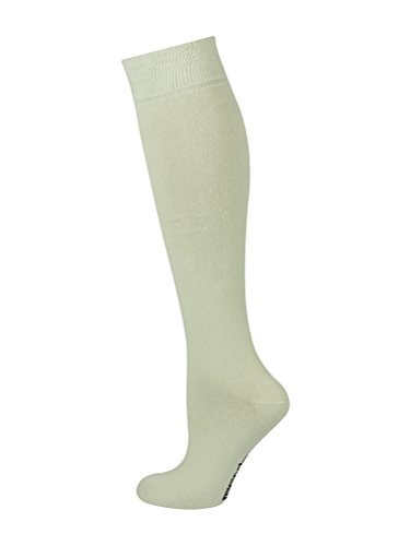 Mysocks Unisex Knee High Long Socks Plain Cream -