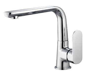 BAFA Bathroom Long Spout Basin Sink Brass Faucet Mixer Taps Chrome Finish