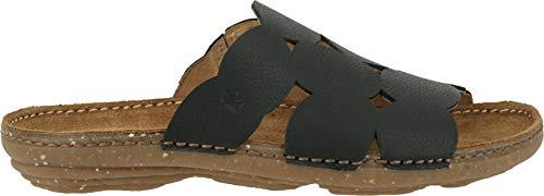 El Donna N5222 Torcal pantofola muli Naturalista Black Mules pantofole 44vBAwUxq