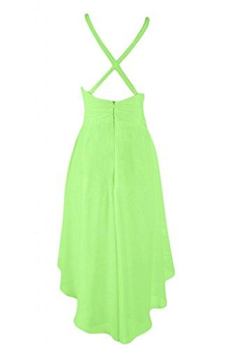 lo Cartamodello da per schiena Gowns elegante Green Light abito Cocktail Sunvary Prom Homecoming Hi IwpqFSE