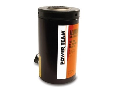 Power Team (SPX) RA556L - Locking-Collar Aluminum Hydraulic Cylinder/Ram -  Single-Acting/Spring Return, 55 tons Capacity, 6 125 in Stroke, 12 500 in
