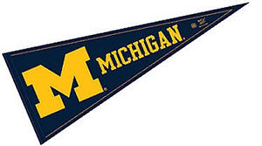 Michigan Wolverines Official NCAA 29'' Pennant by WinCraft