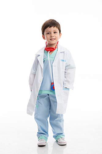 Jr Doctor Lab Coat Deluxe Kids Toddler Costume Set For