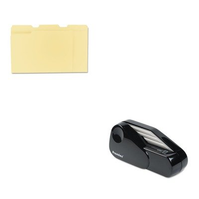 KITPRE1624UNV12113 - Value Kit - Martin Yale Model 1624 Handheld Battery Operated Letter Opener (PRE1624) and Universal File Folders (Battery Operated Envelope Opener)