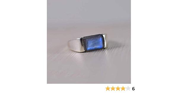handmade ring Labradorite ring gemstone ring A517 Natural Purple Labradorite ring solid sterling silver ring