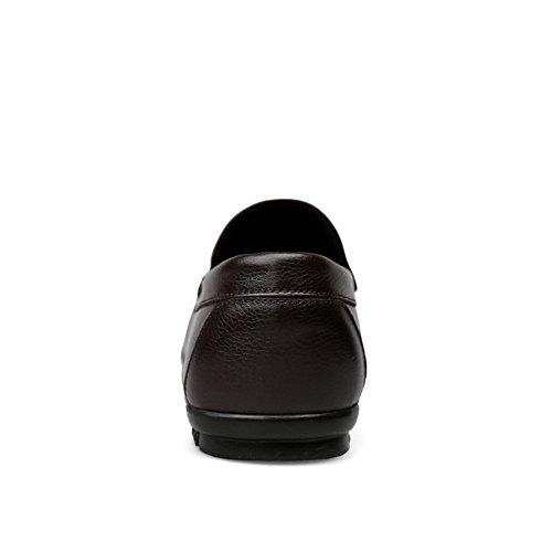EU da 43 shoes Marrone Dimensione stile uomo Xiazhi hollywoodiano Color in pelle Mocassino 7Pwnxq6