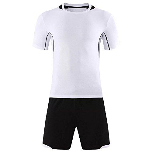 臭い力郵便屋さんKINDOYO メンズ&ボーイズサッカーTシャツ、サッカートレーニングスポーツウェア、サッカーユニフォーム (ホワイト,2XL)