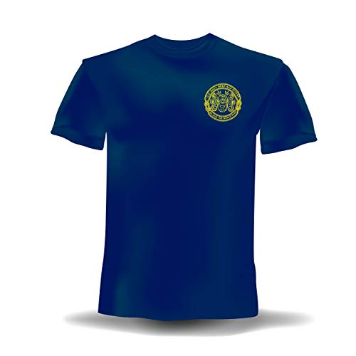 Navy Deep Sea Diver - Men's New XL Navy Blue T-Shirt 100% Preshrunk Cotton. US Navy Deep Sea Divers We Dive The World Over. Gold Logo Front and Back.