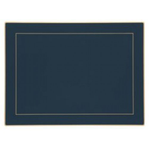 Lady Clare Placemats - Oxford Blue Screened - Set of 4 Continental Mats
