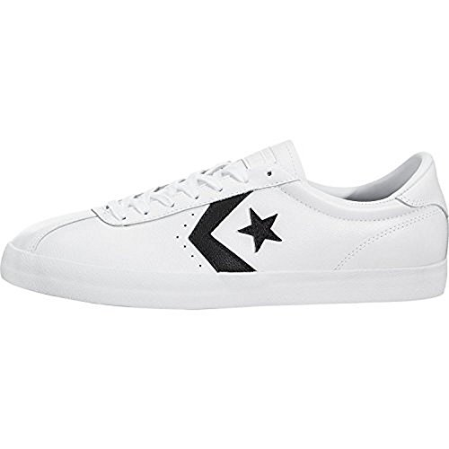 44 Ox 5 Eu Mens Trainers White Breakpoint Black Leather Converse a08ETwqw