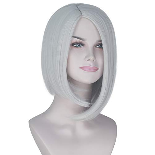 Halloween Costumes With Short Hair (Miss U Hair Women Girl's Short Straight Grey Hair Wigs Ashe Game Cosplay Costume Wig)