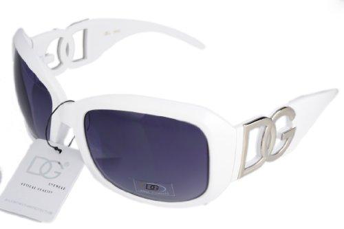 DG Eyewear Sunglasses White Frame Smoke Lens 37323 with Free Micro Fiber - Sunglasses Mens Dg