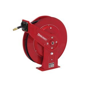 Heavy Duty Spring Retractable Reel, Grease with Hose, 1/4 x 50ft, 5000 psi by Reelcraft