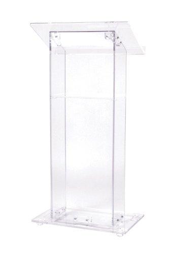 Oklahoma Sound Clear Acrylic Lectern with Shelf