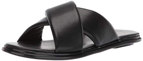 BCBGeneration Women's Eloise Flat Sandal Slipper, Black, 8 M US
