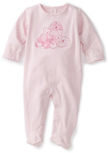 ABSORBA Baby-Girls Newborn Bear Friends Footie