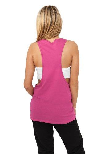 Urban Classics Ladies Loose Tanktop - Camiseta de deporte Mujer Fucsia