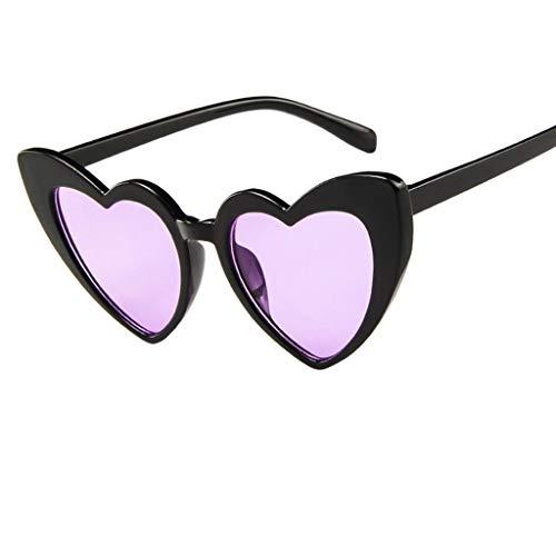 iYBUIA Heart Shape Polarized Sunglasses For Women, Mirrored Lens Fashion Goggle Eyewear