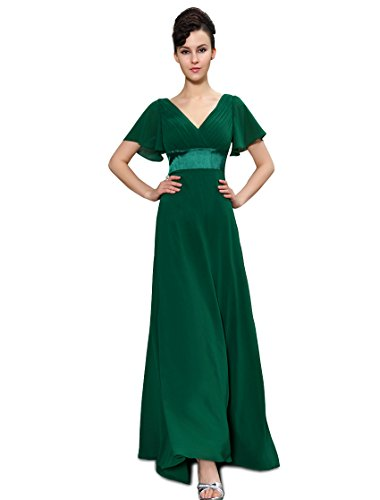 Ever Pretty Wedding Guest Dresses With Sleeves Green US6