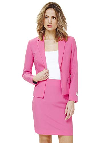 OppoSuits Crazy Suits with Funny Prints for Women- Full Set: Jacket and Skirt