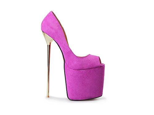 EU48 Zapatos Super 50 metal PURPLE 22 A 8 cm EU47 Heisimei código Black 40 pez Mujer HeiSiMei pXqHawY7xx