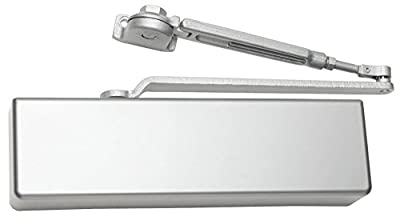 FALCON SC71 Hw/PA ALUM FULL Heavy Duty Door Closer, Hold Open Arm with Parallel Arm Shoe, Full Cover, Aluminum Finish