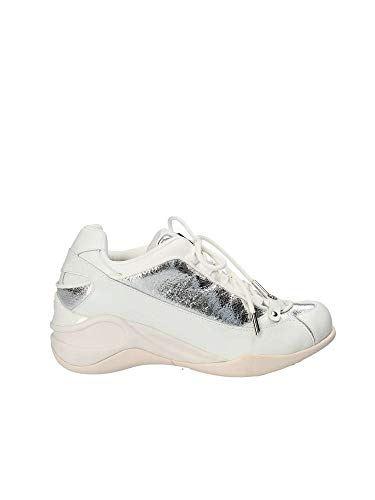 Femme Sneakers Blanc Argent Fornarina PE18SE8922VL90 Chaussures OaRqEnvxw5