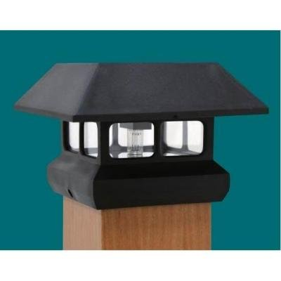 Veranda 4 in. x 4 in. Black Solar-Powered Post Cap for Deck or Fence, Black (12 PACK) by Veranda (Image #2)