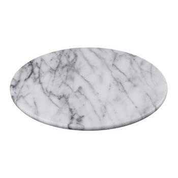 "Creative Home Marble Lazy Susan Table Decor, 12"", White"