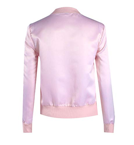 Rosa Manica Lunga Simple Coat Blouse fashion Tinta Unita Corto Jacket E Bomber Outerwear Primavera Autunno Tops Donna Personalità Cappotto Casual Moda Giacche Giacca TBfrTwUq