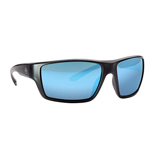 Magpul Terrain Sunglasses, Matte Black Frame/Bronze Lens with Blue Mirror, Polarized