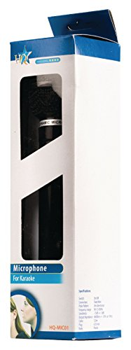 HQ HQ-MIC01 Dynamisches Karaoke Mikrofon (6,35mm Klinkenstecker) schwarz