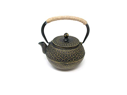 Cast Iron Teapot Kettle with Infuser by Trademark Innovations