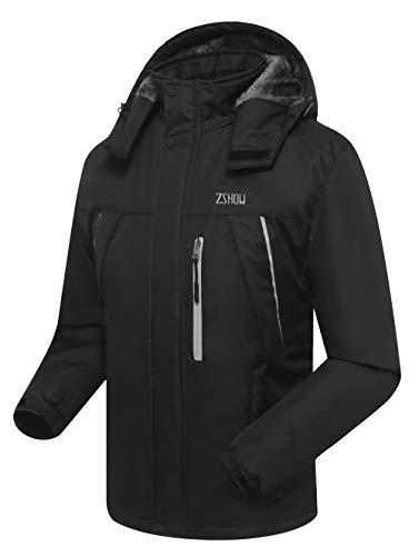 Zshow Men's Waterproof Mountain Ski Jacket Fleece Lined