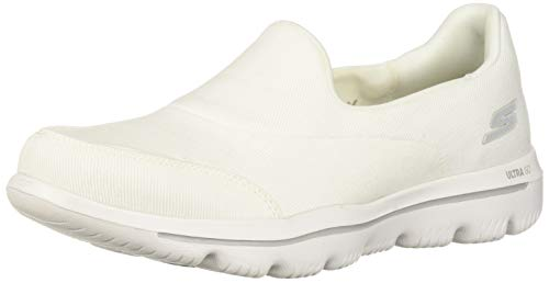 (Skechers Women's GO Walk Evolution Ultra-Belief Sneaker, White, 6 M US)