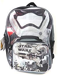Star Wars the Force Awakens 16 Inch Backpack with Detachable Lunch -