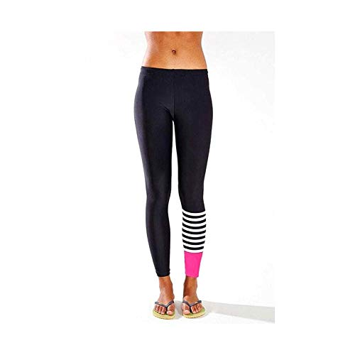 CUSHY Women Fitness Pants Striped Leggings Dance Slim Fit ...