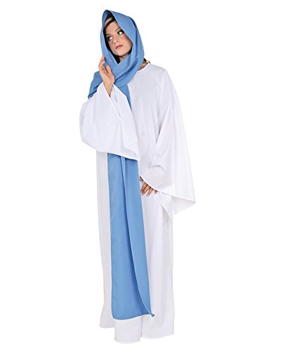Virgin Mary Costume Christmas Play theater Production Pagent Religious Costume Sizes: One Size