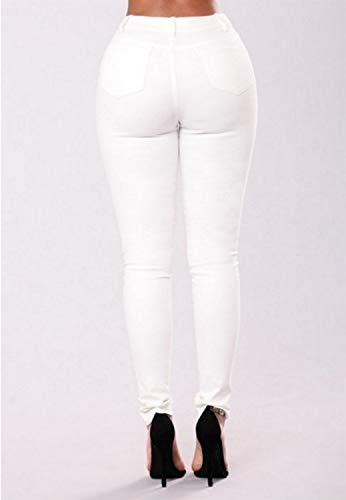 Jeans Estampado Floral de Estampados Florales para 003 con White Skinny Mezclilla Mujeres d1nxdRW