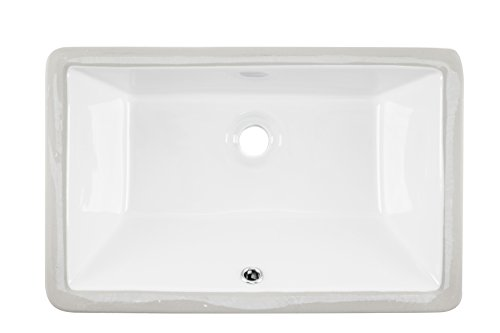 1181CBW 18''x11'' White Rectangular Porcelain Undermount Bathroom Sink by Magnus Sinks