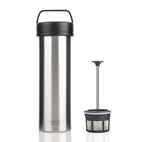 (Espro 5116C-BS Ultralight Coffee Press, Vacuum Insulated, Stainless Steel, 16 oz (Brushed))