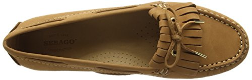 Sebago Donna Meriden Tan Kiltie Slip On Casual Scarpe Scamosciate Mocassino B409043 Marrone