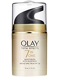 Face Moisturizer with SPF 30 by Olay Total Effects, 7 Benefits , Anti-Aging , 1.7 oz (Packaging May vary)