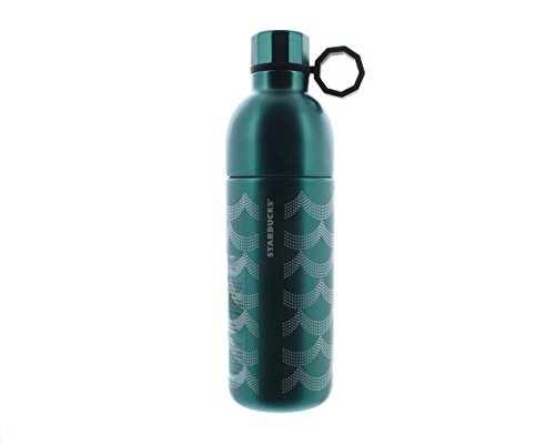Starbucks Siren Scales Anniversary Collection Two-Piece Stainless Steel Teal Water Bottle - 20 Oz ()