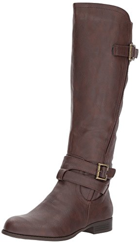 LifeStride Women's Francesca Knee High Boot, Brown, 8 M US